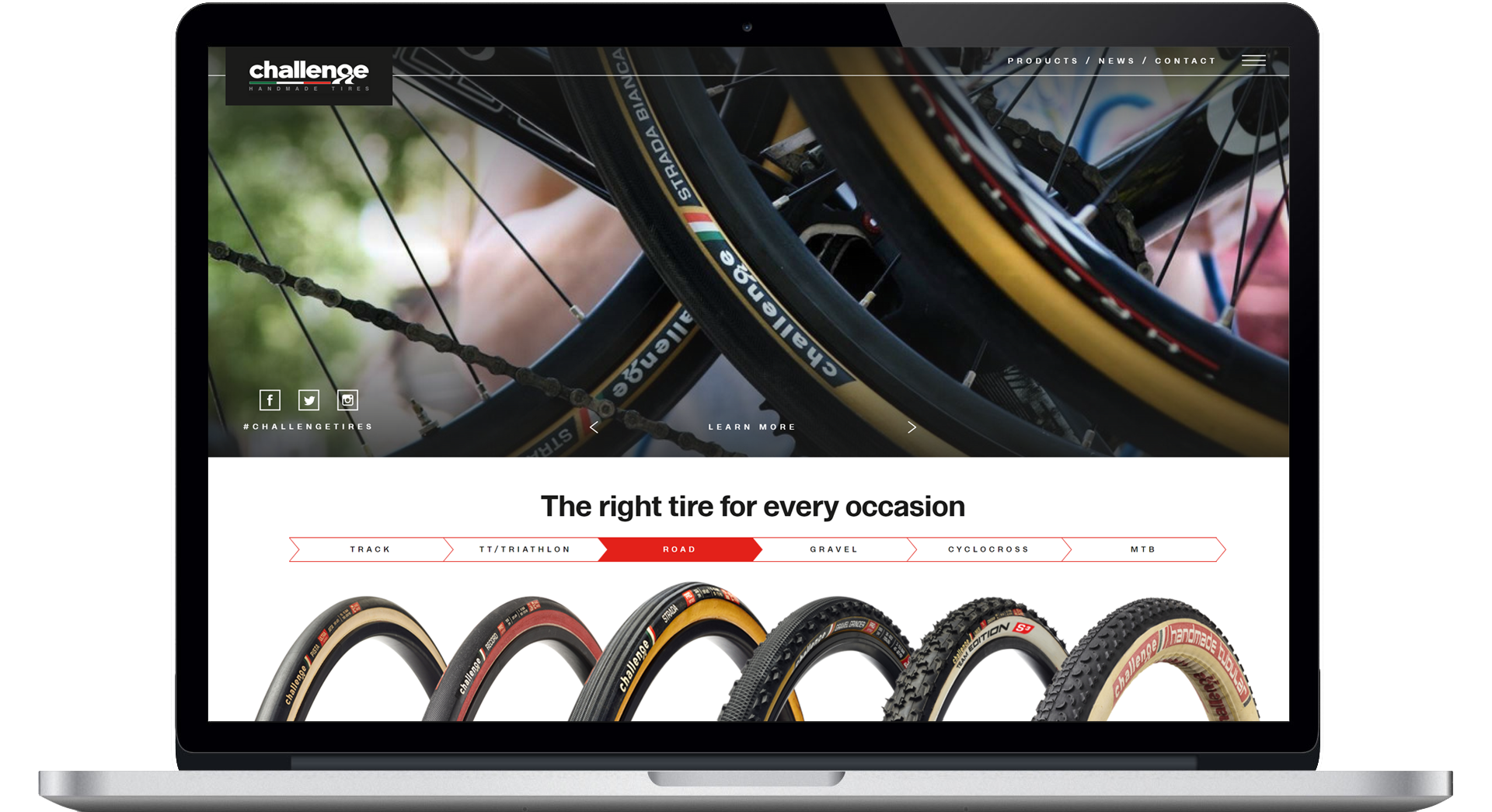Minimal Browser Challengetires Com Website Mockup
