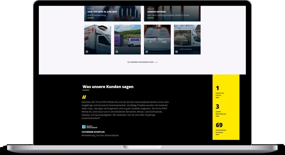 Laptop Mockup Pape Werbe Ag Homepage News
