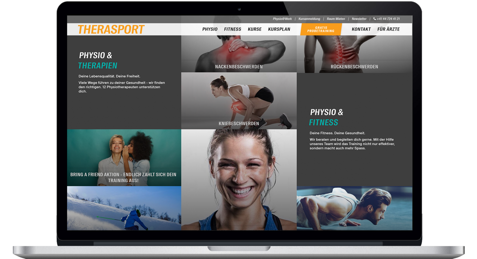 Homepage Web Design Therasport