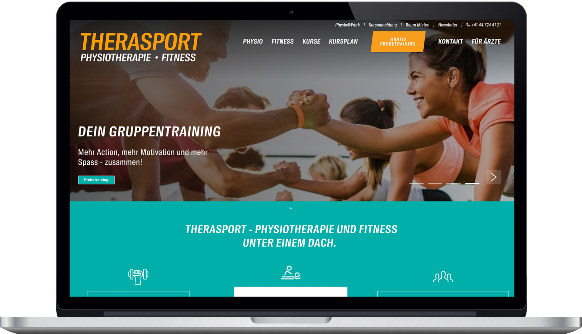 Therasport Homepage Design Desktop
