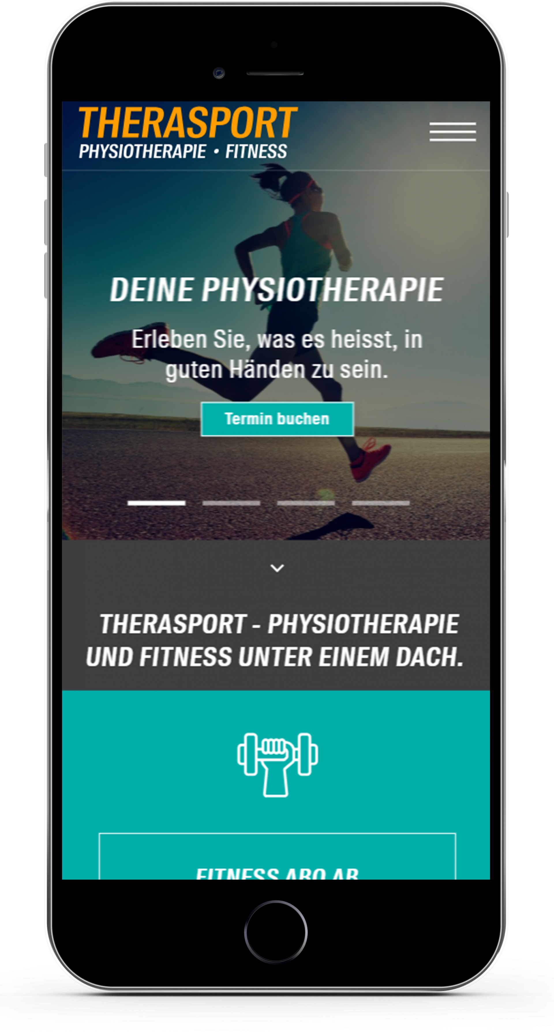 Therasport Mobile Homepage Design
