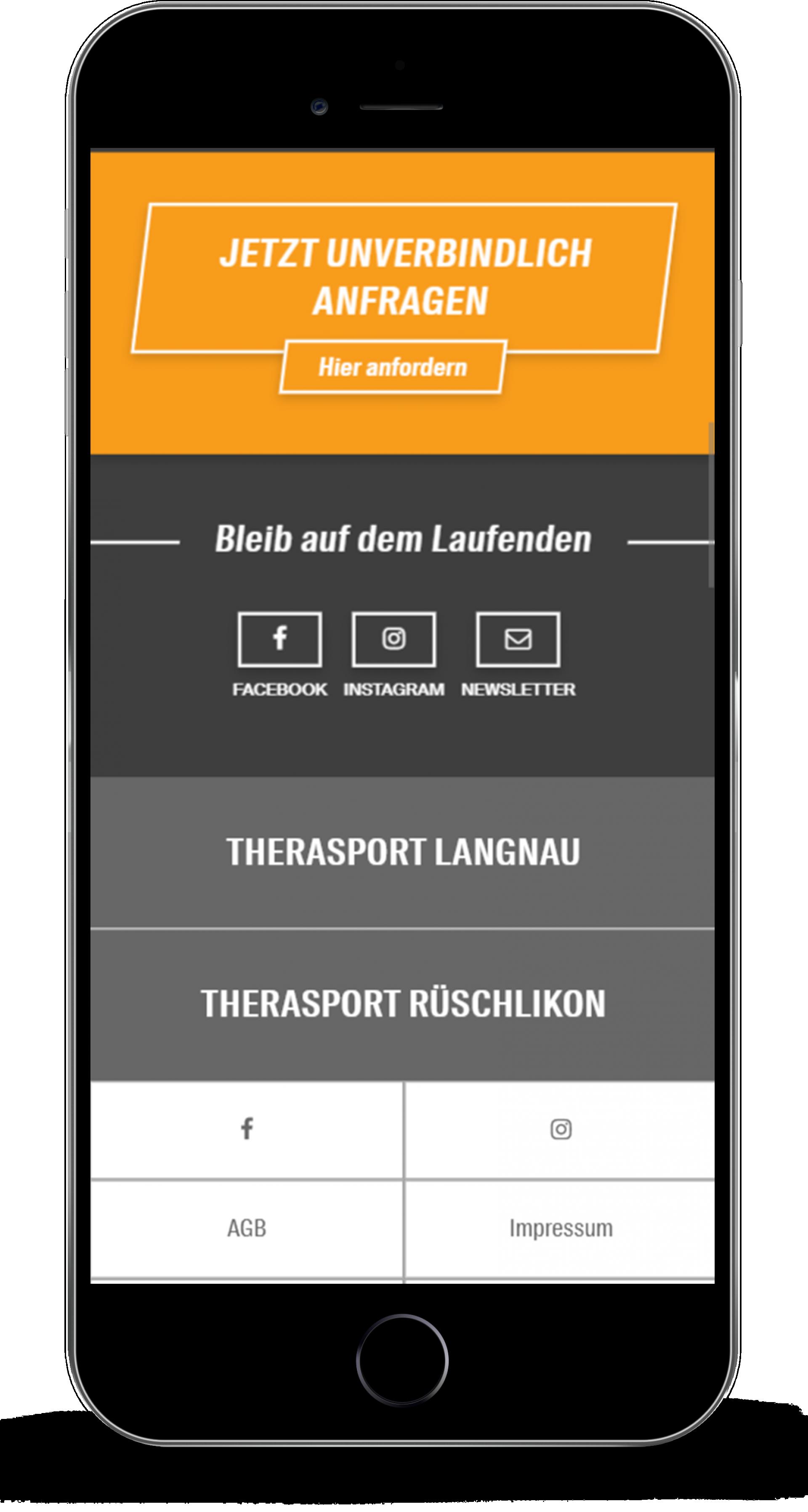 Therasport Mobile Design Footer